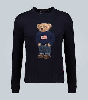 Ralph Lauren Purple Label - Pullover Flag Bear in cashmere - mytheresa.com
