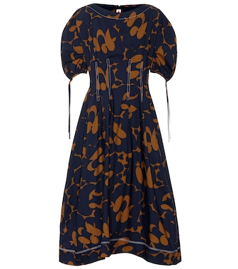 Marni - Printed cotton midi dress - mytheresa.com