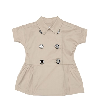 Burberry Kids - Abito trench Cynthie in cotone stretch - mytheresa.com