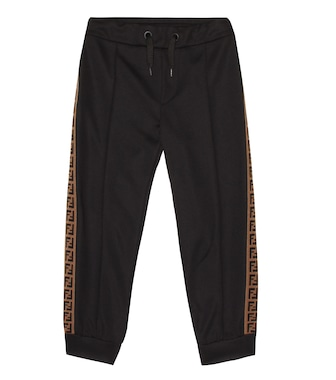 Fendi Kids - Cotton-blend tech trackpants - mytheresa.com