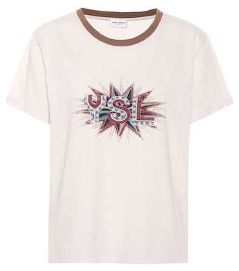 Saint Laurent - Camiseta de algodón estampada - mytheresa.com