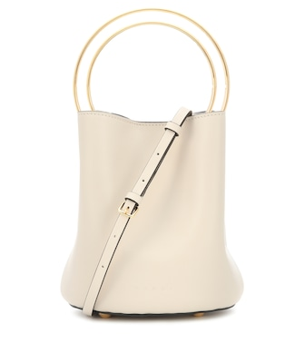 Marni - Pannier leather bucket bag - mytheresa.com