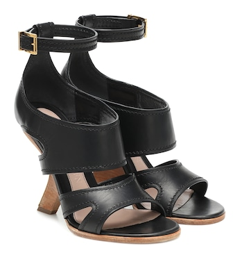 Alexander McQueen - No.13 leather sandals - mytheresa.com