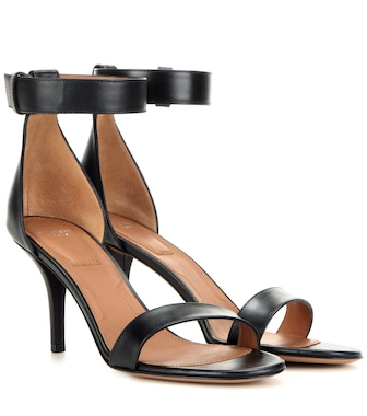 Givenchy - Infinity leather sandals - mytheresa.com