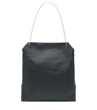 The Row - Lunch leather shoulder bag - mytheresa.com