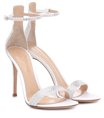 Gianvito Rossi - Glam 105 embellished satin sandals - mytheresa.com