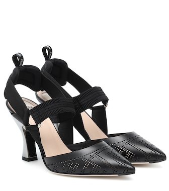 Fendi - Colibrì leather slingback pumps - mytheresa.com