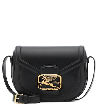Etro - Pegaso leather shoulder bag - mytheresa.com