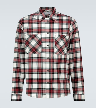 Off-White - Flannel checked shirt - mytheresa.com