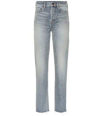 Saint Laurent - High-rise slim jeans - mytheresa.com