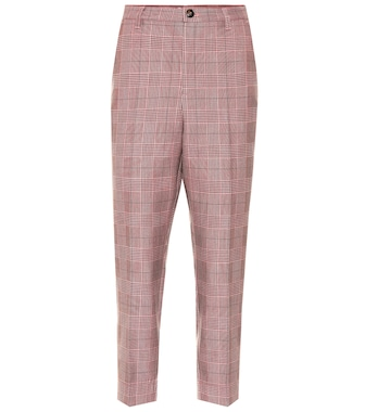 Ganni - Checked slim pants - mytheresa.com