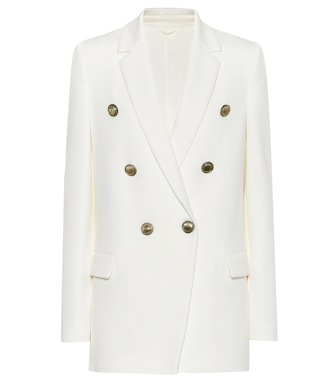 Brunello Cucinelli - Cotton-blend double-breasted blazer - mytheresa.com