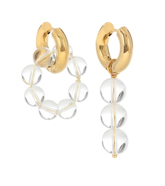 Timeless Pearly - Mismatched 24kt gold-plated hoop earrings - mytheresa.com
