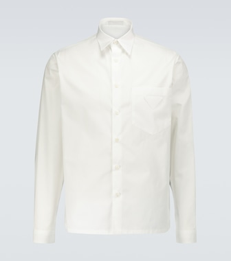 Prada - Long-sleeved cotton shirt - mytheresa.com
