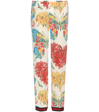 Gucci - Printed silk trousers - mytheresa.com
