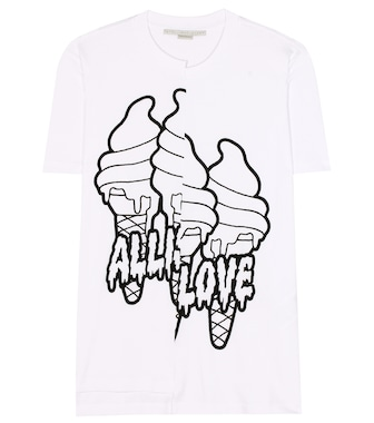 Stella McCartney - T-shirt en coton imprimé All is Love - mytheresa.com
