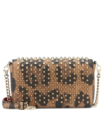 Christian Louboutin - Zoompouch leather shoulder bag - mytheresa.com