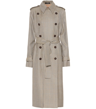 Rokh - Houndstooth wool trench coat - mytheresa.com