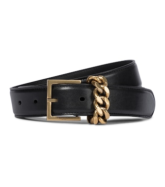 Saint Laurent - Ceinture en cuir à ornements - mytheresa.com