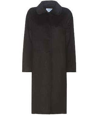 Prada - Wool and angora-blend coat - mytheresa.com