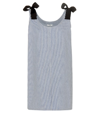 Miu Miu - Striped cotton dress - mytheresa.com