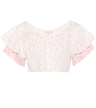 LoveShackFancy - Christine off-the-shoulder cotton top - mytheresa.com