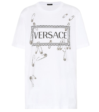 Versace - Logo cotton T-shirt - mytheresa.com
