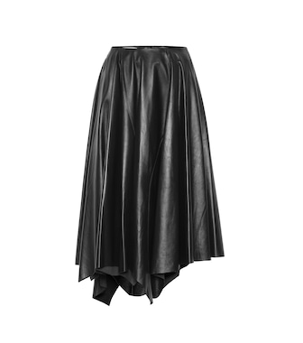Marni - Leather midi skirt - mytheresa.com