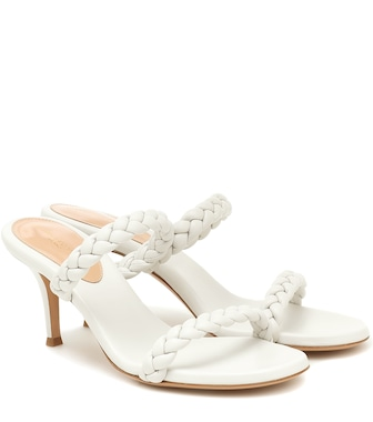 Gianvito Rossi - Marley 70 leather sandals - mytheresa.com