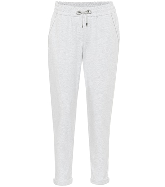 Brunello Cucinelli - Stretch-cotton trackpants - mytheresa.com