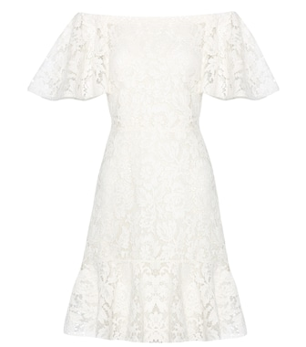 Valentino - Lace off-the-shoulder dress - mytheresa.com
