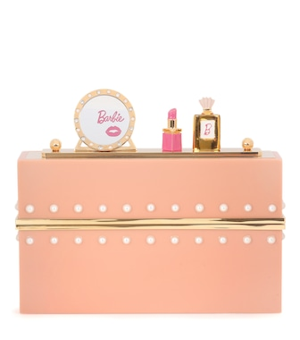 Charlotte Olympia - Barbie World embellished clutch - mytheresa.com