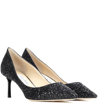 Jimmy Choo - Romy 60 glitter pumps - mytheresa.com