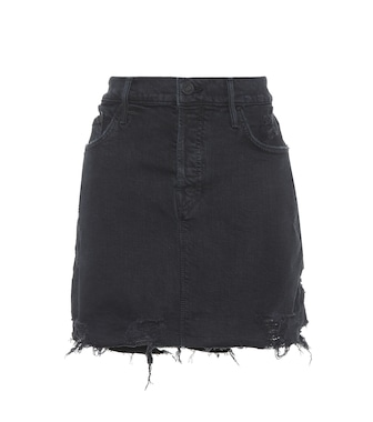 Mother - Vagabond Mini Fray denim skirt - mytheresa.com