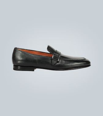 Santoni - Buckled leather loafers - mytheresa.com