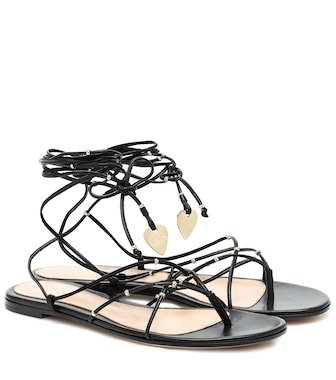Gianvito Rossi - Luxor leather sandals - mytheresa.com