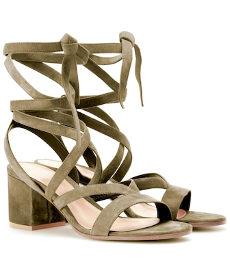 Gianvito Rossi - Janis Low suede sandals - mytheresa.com