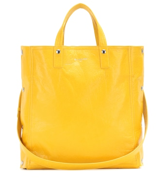 Balenciaga - Papier Snap Simple leather tote - mytheresa.com
