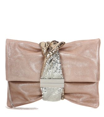 Jimmy Choo - Chandra suede shoulder bag - mytheresa.com