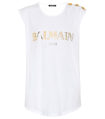 Balmain - Printed cotton top - mytheresa.com