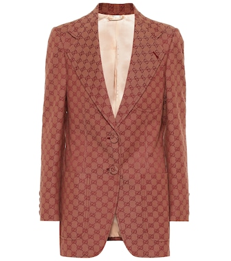 Gucci - GG cotton-blend blazer - mytheresa.com