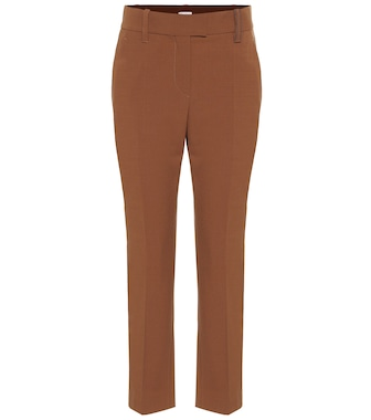 Brunello Cucinelli - Stretch wool-blend cropped pants - mytheresa.com