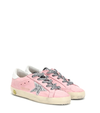 Golden Goose Kids - Superstar suede and leather sneakers - mytheresa.com