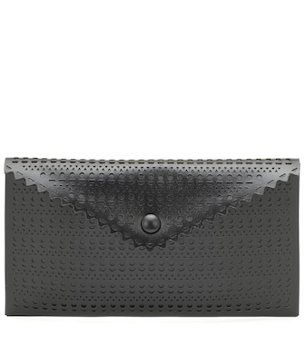 Alaïa - Louise leather clutch - mytheresa.com