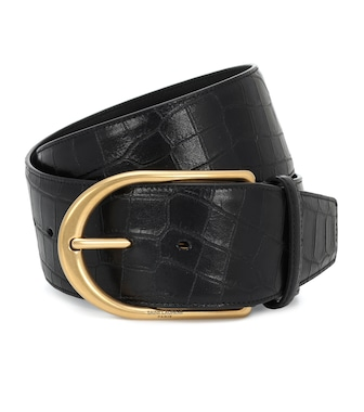 Saint Laurent - Croc-effect leather belt - mytheresa.com