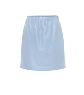 Gucci - Leather miniskirt - mytheresa.com