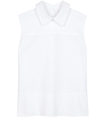 Victoria Victoria Beckham - Tie Back Sleeveless cotton blouse - mytheresa.com