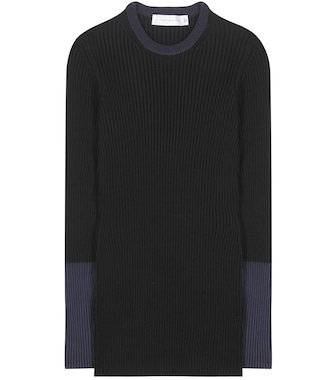 Victoria Beckham - Knitted cotton-blend sweater - mytheresa.com