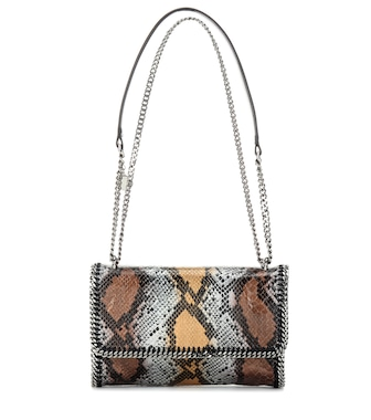 Stella McCartney - Falabella faux snakeskin shoulder bag - mytheresa.com