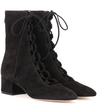 Gianvito Rossi - Delia suede ankle boots - mytheresa.com